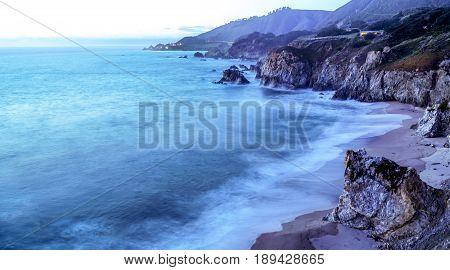 Amazing Pacific coast at Big Sur in the evening - CALIFORNIA