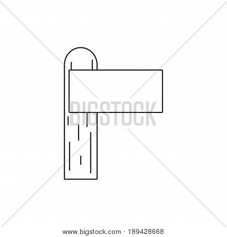 line wood surfboard to recreation sport in the waves vector illustration