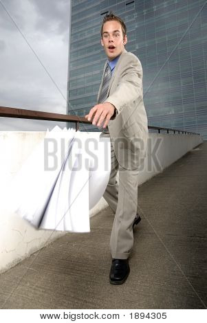 Butterfingers Businessman