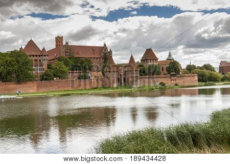 Teutonic Knights in Malbork castle. World Heritage List UNESCO