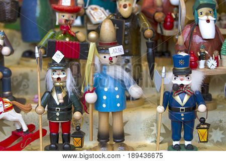 Decorative figurine on a christmas market in germany