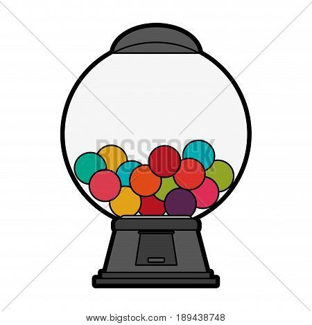 gum balls dispenser candy icon image vector illustration design