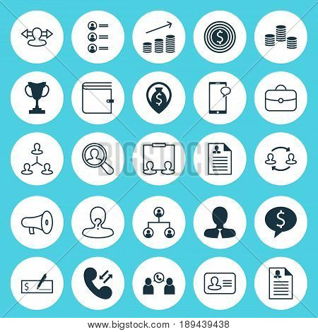 Hr Icons Set. Collection Of Find Employee, Curriculum Vitae, Phone Conference And Other Elements. Also Includes Symbols Such As Male, Find, Dollar.