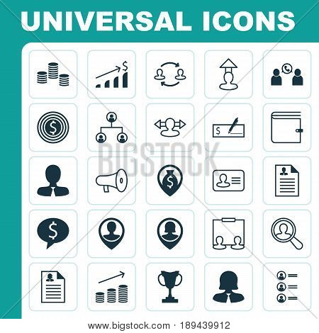 Management Icons Set. Collection Of Job Applicants, Find Employee, Destination And Other Elements. Also Includes Symbols Such As Map, Personal, Find.