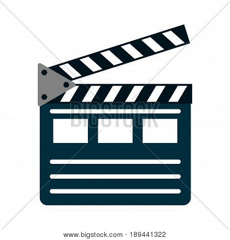 clapperboard movie icon image vector illustration design
