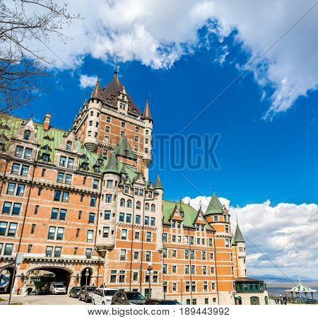View of Chateau Frontenac in Quebec City - Quebec, Canada