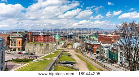 Old fortifications of Quebec City in Canada