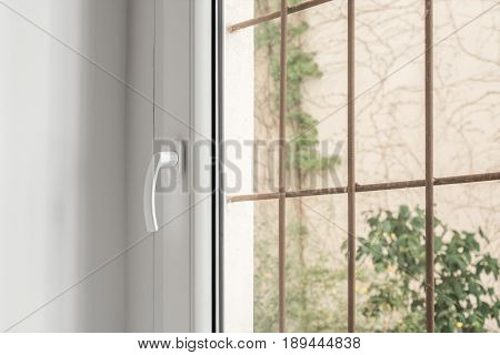 Window With Metal Bars - Burglar-proof Window Detail