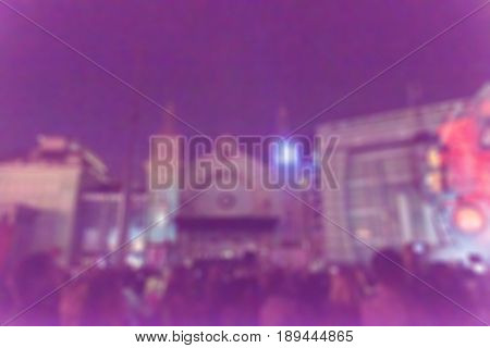 Light projection festival theme creative abstract blur background with bokeh effect
