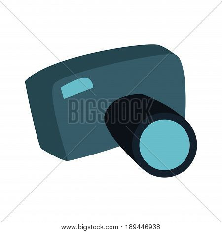 cartoon photo camera picture photographic equipment travel vector illustration