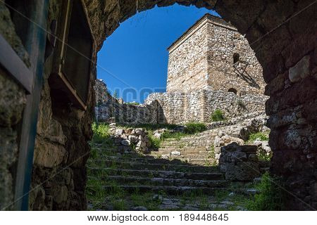 PIROT, SERBIA -16 APRIL 2016: Amazing view of Pirot Fortress, Republic of Serbia