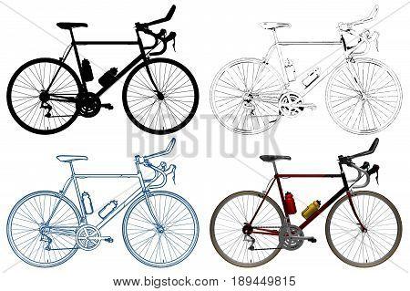 Bicycle Extreme Bike Isolated Illustration Vector On White