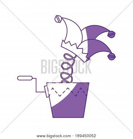 jester cap box toy vector icon illustration graphic design