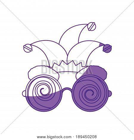 glasses jester cap vector icon illustration graphic design