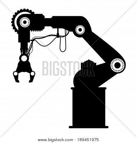 Robot Arm Laser icon vector illustration graphic design