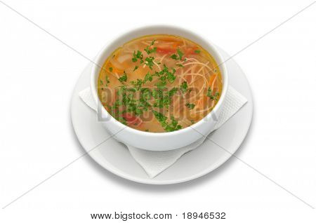 zama, romanian and moldavian chicken soup with home-made noodles