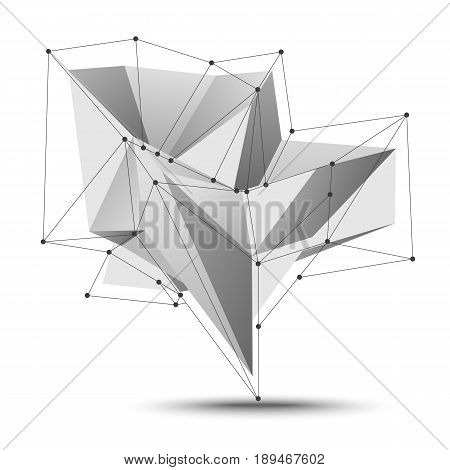 Low Polygon Geometry Vector Element. Abstract Polygonal Geometric Shape. Lowpoly Minimal Style Art Illustration.