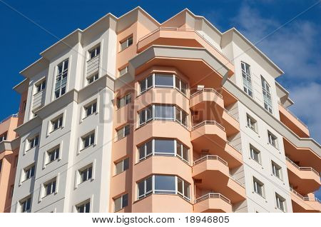 just built modern apartments block, dream house