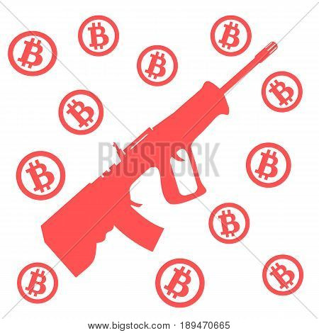 Picture About Transactions In Bitcoin: Bitcoins And Rifle