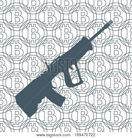 Picture About Transactions In Bitcoin: Rifle And Bitcoins