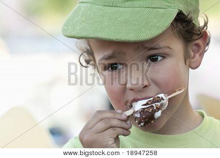 Child Eating An Icecream