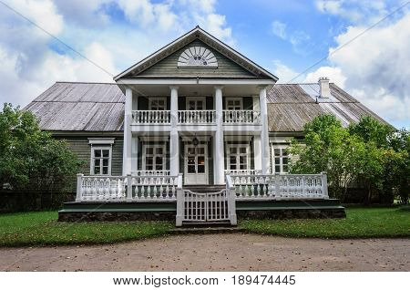 State Museum-reserve of A. S. Pushkin - Petrovskoe village in Pskov Region Russia. The House of Peter Abramovich and Benjamin Petrovich Hannibal