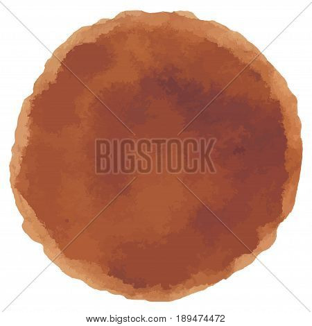 Abstract Watercolor brown hand painted dots. Beautiful watercolor circle design elements. Watercolor background. Color trend