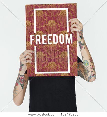 Energized Positivity Freedom Liberation Optimistic poster