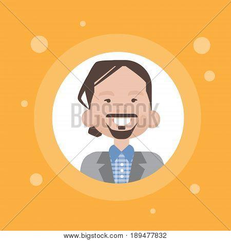 Profile Icon Male Avatar, Man Cartoon Portrait, Casual Person Face Flat Vector Illustration