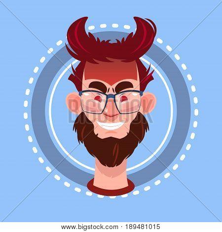 Profile Icon Male Emotion Avatar, Man Cartoon Portrait Angry Face Flat Vector Illustration