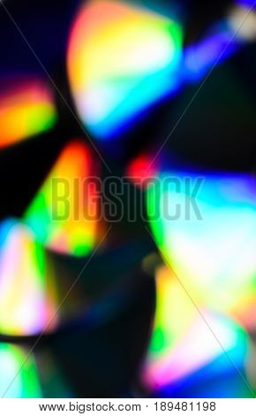 Blurred Background Of The Cd Disks