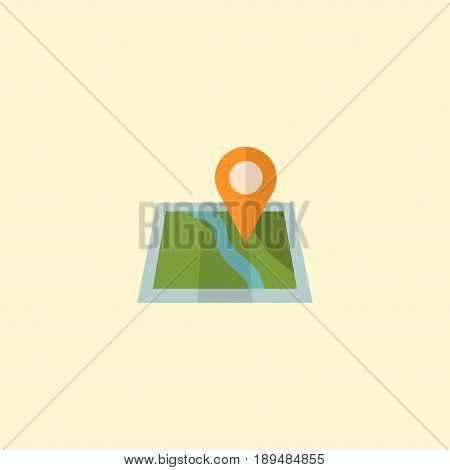 Flat Map Pin Element. Vector Illustration Of Flat Location Isolated On Clean Background. Can Be Used As Map, Pin And Location Symbols.