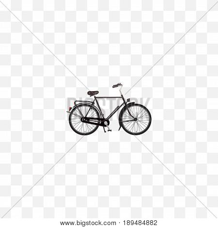 Realistic Dutch Velocipede Element. Vector Illustration Of Realistic Training Vehicle Isolated On Clean Background. Can Be Used As Bicycle, Velocipede And Dutch Symbols.