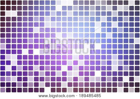 Purple Lilac Pink Occasional Opacity Mosaic Over White