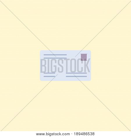 Flat Letter Element. Vector Illustration Of Flat Envelope Isolated On Clean Background. Can Be Used As Letter, Post And Envelope Symbols.