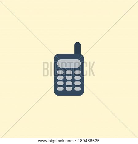 Flat Phone Element. Vector Illustration Of Flat Walkie-Talkie  Isolated On Clean Background. Can Be Used As Phone, Ratio And Remote Symbols.