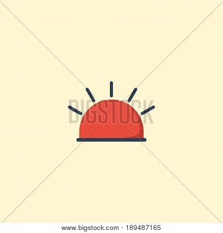 Flat Alarm Element. Vector Illustration Of Flat Siren  Isolated On Clean Background. Can Be Used As Siren, Alarm And Warning Symbols.