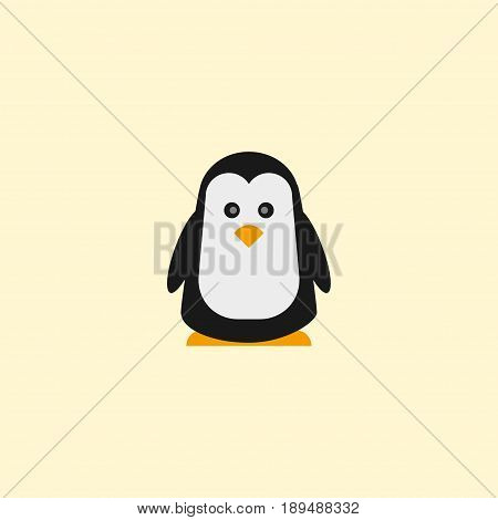 Flat Penguin Element. Vector Illustration Of Flat Emperor Isolated On Clean Background. Can Be Used As Penguin, Polar And Emperor Symbols.