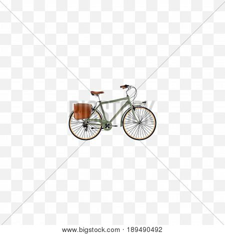 Realistic Postman Element. Vector Illustration Of Realistic Working  Isolated On Clean Background. Can Be Used As Working, Postman And Bike Symbols.