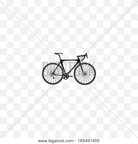 Realistic Road Velocity Element. Vector Illustration Of Realistic Exercise Riding Isolated On Clean Background. Can Be Used As Road, Bike And Bicycle Symbols.