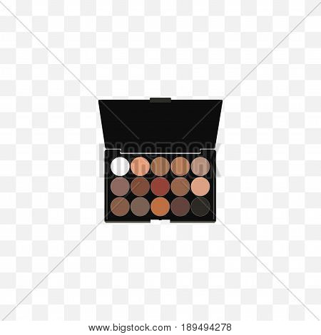 Realistic Eyeshadow Set Element. Vector Illustration Of Realistic Multicolored Palette Isolated On Clean Background. Can Be Used As Multicolored, Eyeshadow And Palette Symbols.