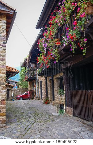 Image of Beautiful village Barcena Maior in Asturia y Cantabria, Spain
