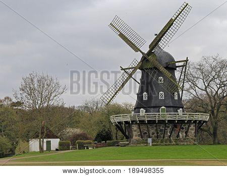 Old Windmill 'slottsmollan' In The Kungsparken Park