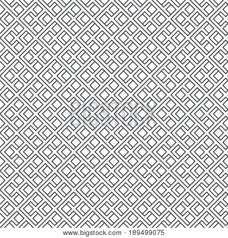 Seamless pattern. Geometrical modern linear texture. Regularly repeating classical tiles with rhombuses diamonds thin lines. Vector element of graphical design