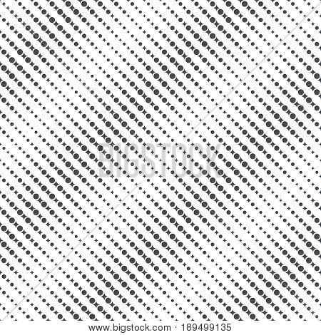 Vector seamless pattern. Modern stylish texture. Regularly repeating diagonal stripes with dots rhombuses. Vector element of graphical design