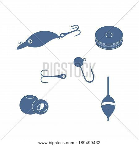 Colorful Set Of Different Tools For Fishing