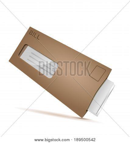 Bill mail letter envelope Illustrator , Vector