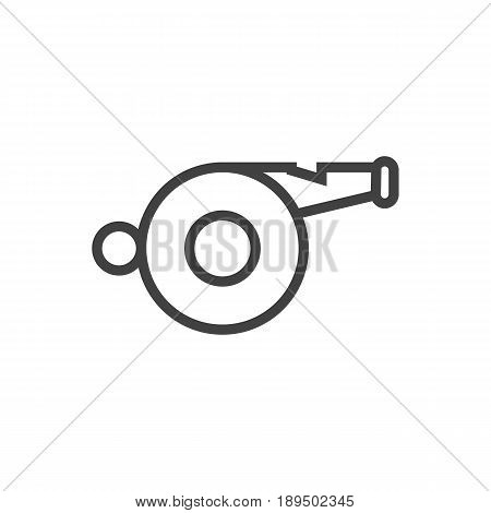 Isolted Blower Outline Symbol On Clean Background. Vector Whistle Element In Trendy Style.