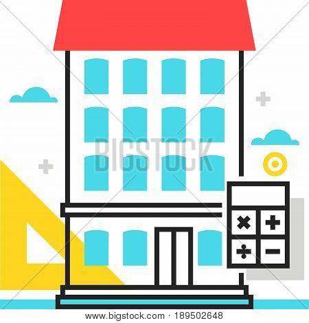 Color Box House Size Icon