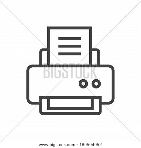 Isolted Peripheral Outline Symbol On Clean Background. Vector Printer Element In Trendy Style.